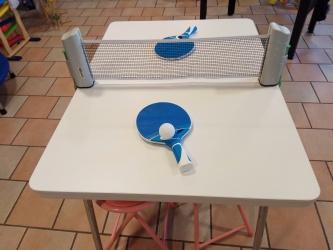 Tischtennis Set mit Netz ausrollbar